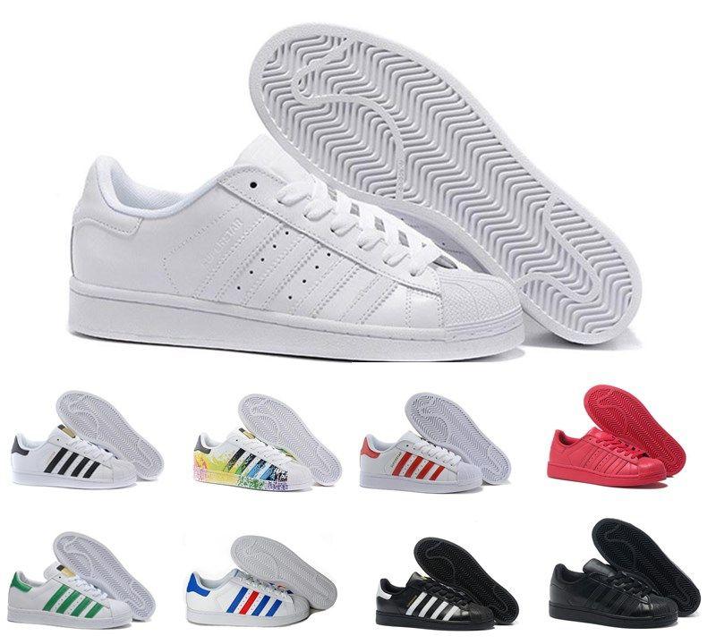 Originals Adidas Classique Superstar Blanc Hologramme Iridescent Superstars Junior années 80 Pride Sneakers Super Star Femmes Hommes Sport Chaussures