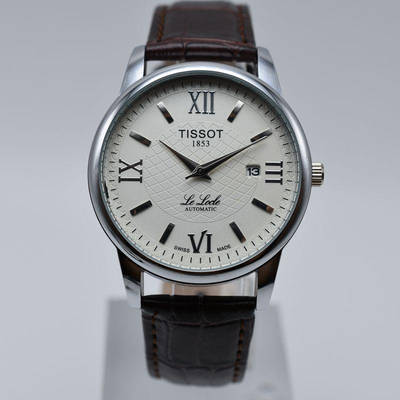 62d2a42e3893 Compre 40mm Cuero Cuarzo 1853 Marca Aaa Relojes Para Hombre De Lujo Venta  Caliente Día Casual Fecha Hombres Reloj De Diseño Venta Al Por Mayor Regalos  De ...