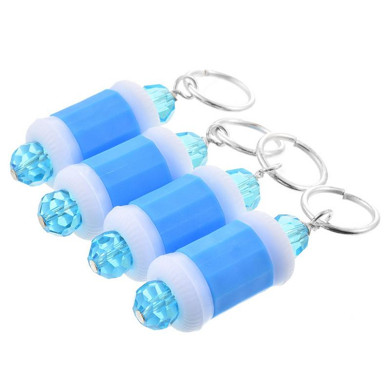 2019 Hoomall Plastic Row Counter Ring Blue Beaded Stitch Marker For