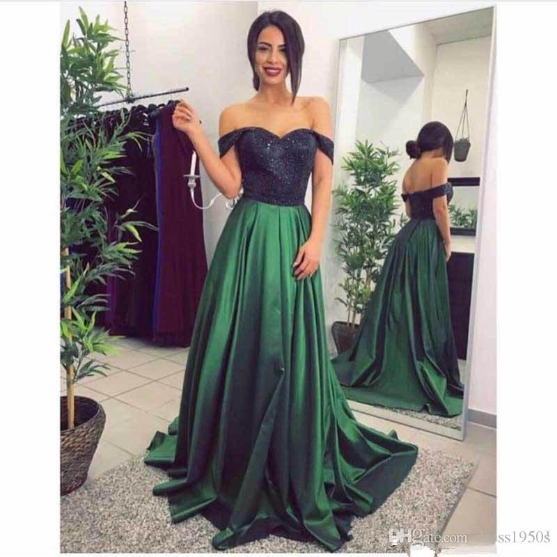5ffa530f15f9 African Dresses 2018 Luxury Long Prom Dresses Green Available Skirt Off  Shoulder Sleeves For Woman Sexy Evening Formal Gowns Fitted Prom Dresses  Formal ...