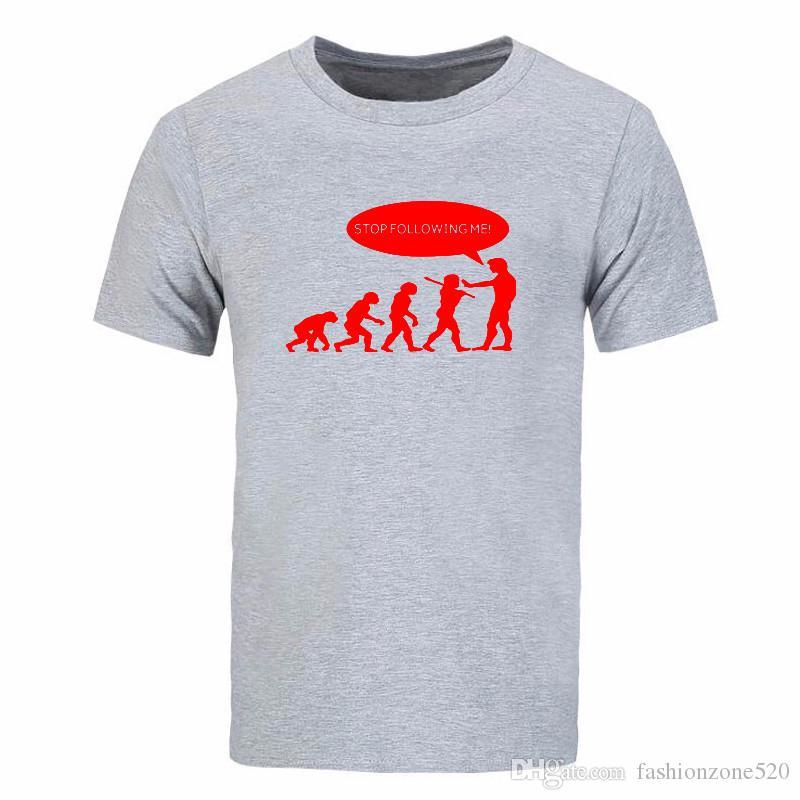 nueva camiseta de Evolution de verano Stop Following Me for Caveman casual streetwear camiseta divertida de dibujos animados Drake DIY-0305D