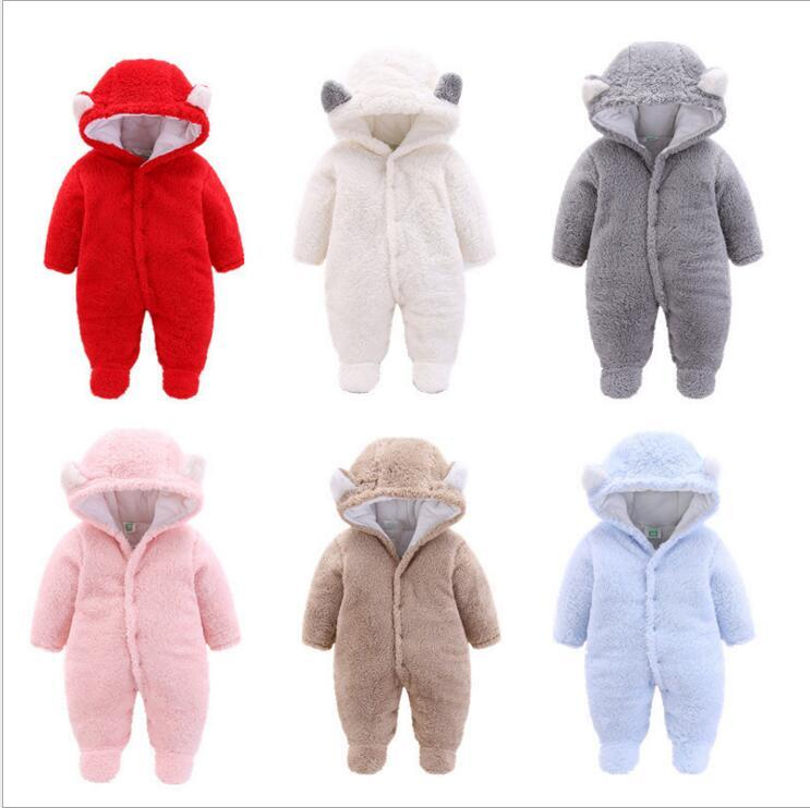 37aed371df4ae Winter Baby Overall Newborn Baby Boy Clothes 0 3 Months Babies Hoodie  Fleece Footies Plush Jumpsuit Winter Overalls For Kids Canada 2019 From  Paradise13
