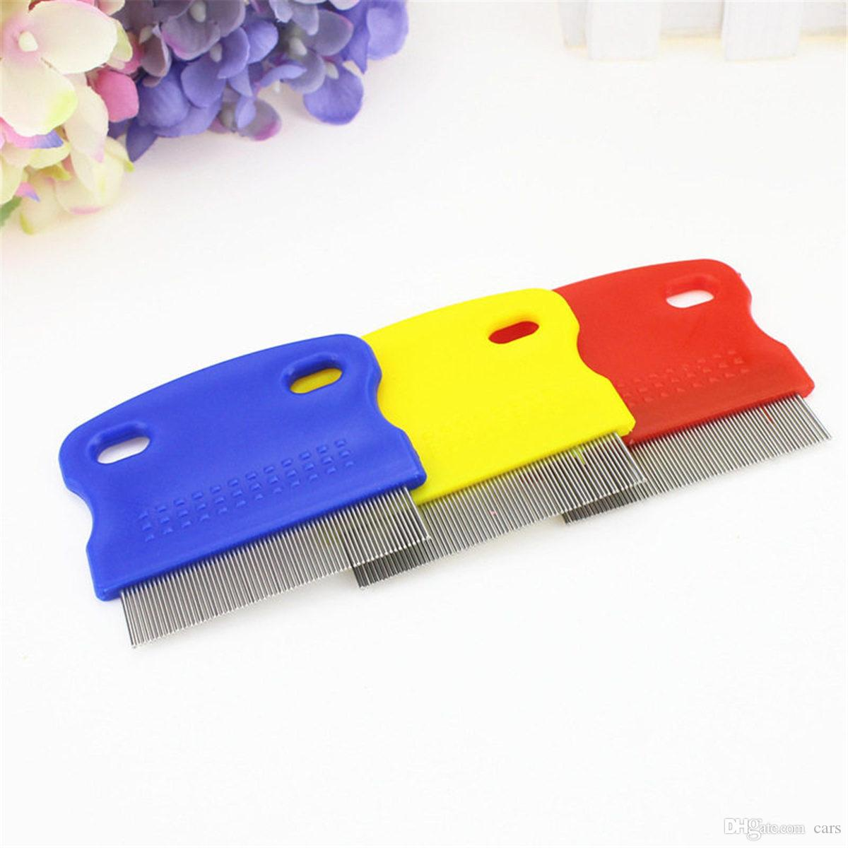 Pet Dog Cat Clean Comb Brush Dog Hair Grooming Tool Stainless Steel Needle Nit Lice Comb Pet Flea Comb Catching Lice