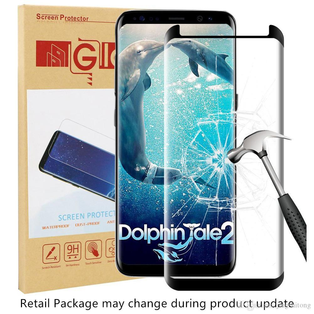 timeless design 1fe32 83a15 Case Friendly Screen Protector for Samsung Galaxy S9 Plus 3D Curved Full  Cover Tempered Glass Protective Film for Galaxy S9 Retail Package