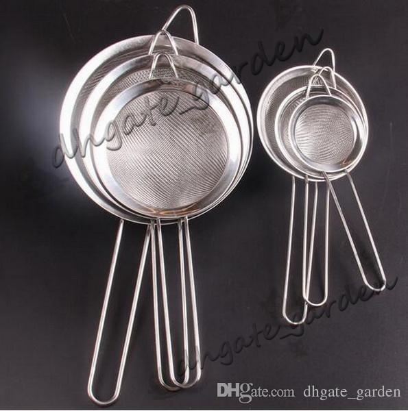 100 unids / lote, 8 cm de Diámetro, 4 cm de profundidad Mesh Colador - Colador de Nueva Llegada de Aceite de Aceite de la Red de Cocina