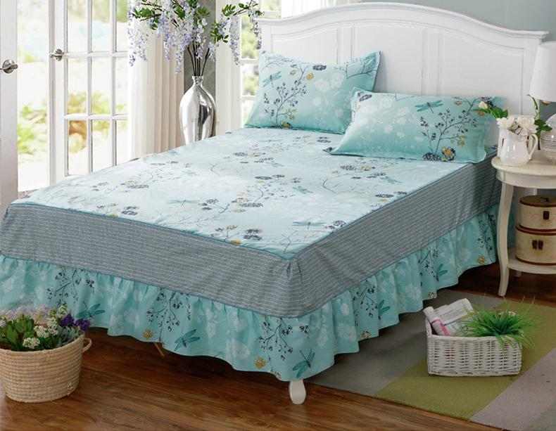 New Dragonfly Twin Full Queen King Size Bed Skirt Bed Cover Bedspread Maress Cover 1pcs Coon Bed Skirt Home Textiles