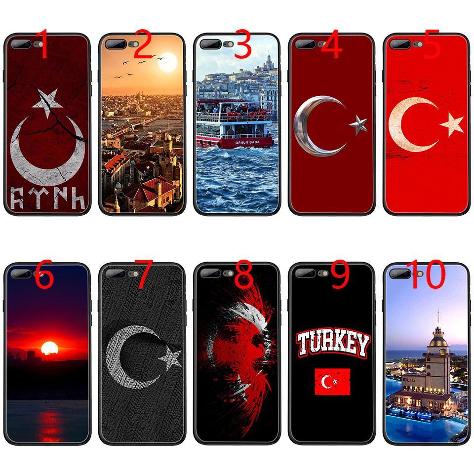 bedd742dbc4 Diseños De Fundas Para Celular Bandera De Turquía Estambul Antalya Funda De  Teléfono TPU Negra Suave Para IPhone XS Max XR 6 6s 7 8 Plus 5 5s SE Funda  ...