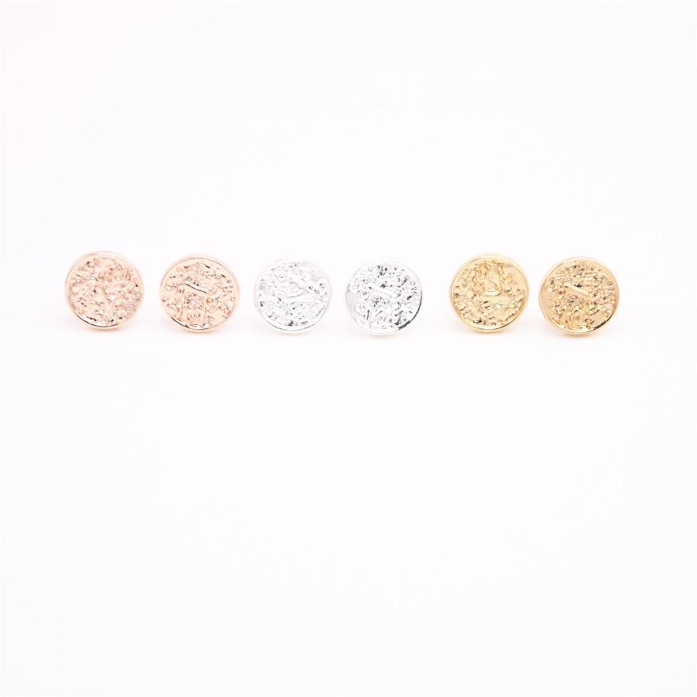 Lastest geometrische Formgoldbolzenohrringe Feste Kreisbolzenohrringe Freies Verschiffeneinzelverkauf und -großverkauf mischen