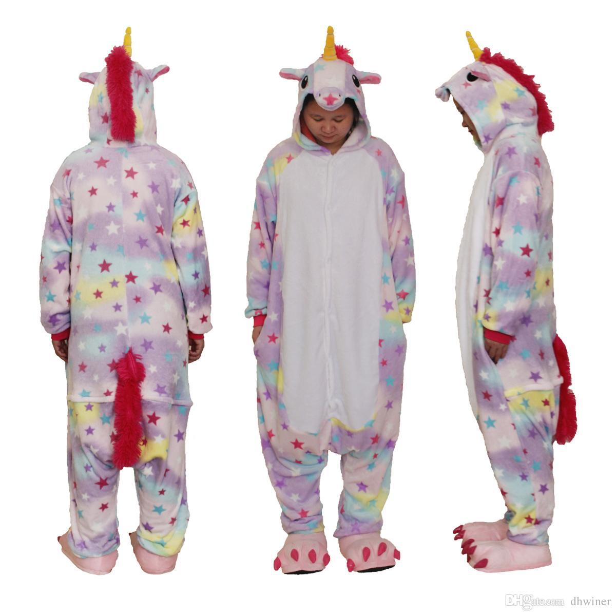 c7e090b860 Adult Animal Onesie Pajamas Cosplay Costume Unisex One Piece Kigurumi  Pajamas Unicorn Toddler Halloween Costumes Scary Halloween Costumes From  Dhwiner