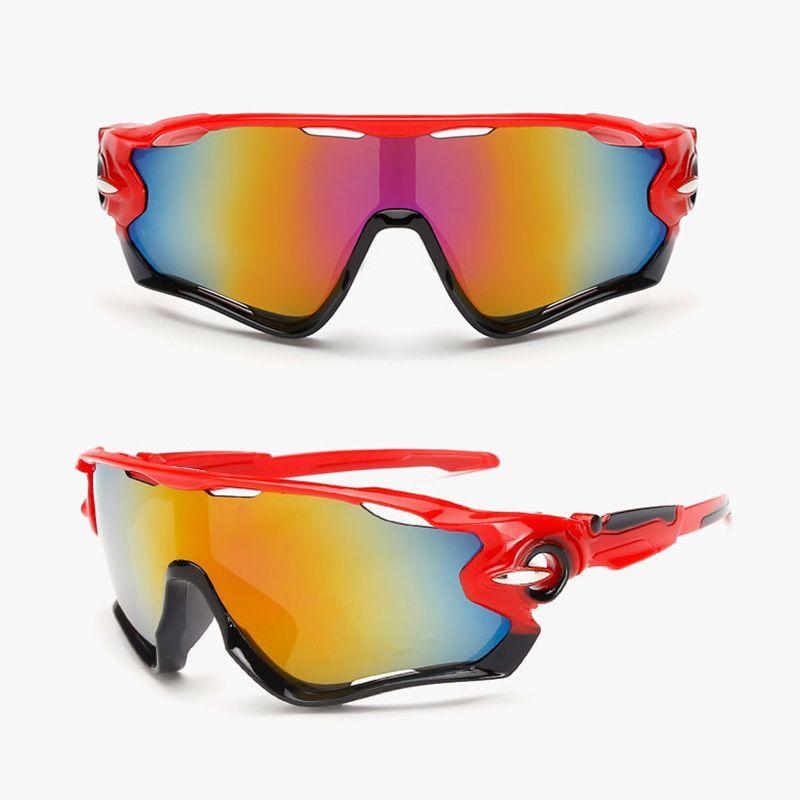 2018 UV400 Cycling Eyewear Bike Bicycle Sports Glasses Hiking Men Motorcycle Sunglasses Reflective Explosion-proof Goggles