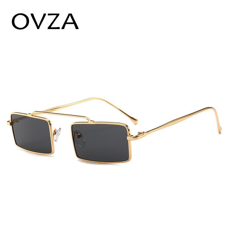 66b7b716fb5 OVZA Rectangle Mens Sunglasses Brand Designer Fashion Women Sunglasses  Narrow Yellow Glasses Oculos De Sol Masculino S7005 Sunglasses Case  Knockaround ...