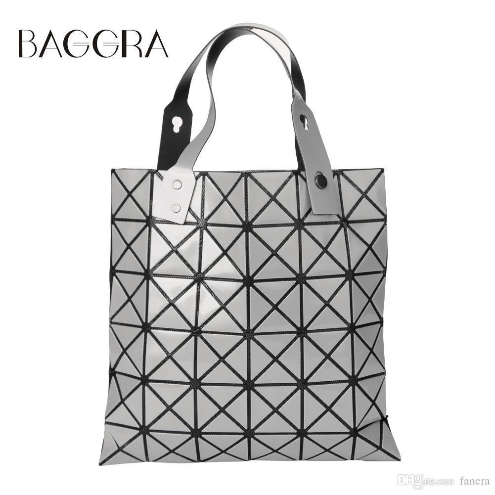 1ac4f2c809b8 ... Diamond Shape Sliver Paint Patchwork Tote Women Shoulder Bao Bao Ladies  Bag Sacoche Bolso Mujer Large Handbags Black Leather Handbags From Fanera