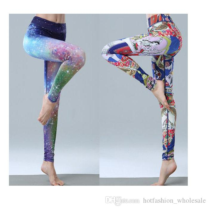 c5715d107e3db 2019 2018 New Women Shaper Fitness Gym Yoga Pants Running Training Digital  Printing Tights Colorful Workout Clothes Leggings From  Hotfashion_wholesale, ...