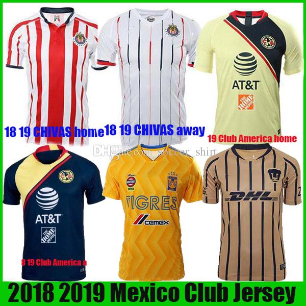 8cc38d5ac2147 18 19 LIGA MÉXICO Club América CHIVAS Guadalajara UNAM TIGRES Jerseys 2018  2019 Camisetas De Fútbol Monterrey De La Mejor Calidad Camisetas De Futbol  Por ...