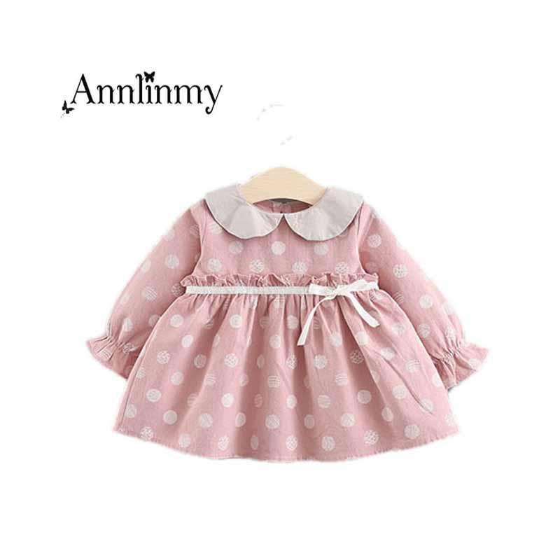 3ac5b02ae1dd 2019 Toddler Girl Clothes 2018 Spring Autumn Baby Dress Cute Doll ...