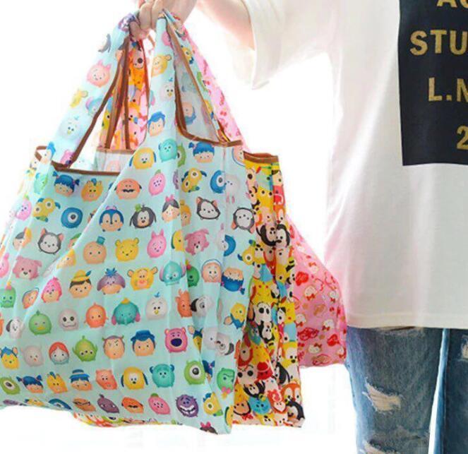 951f2f986 2019 Foldable Eco Reusable Shopping Bag Folding Tote Pouch Recycle Storage  Handbags Organization Bag Grocery Pouch KKA6199 From Liangjingjing no1