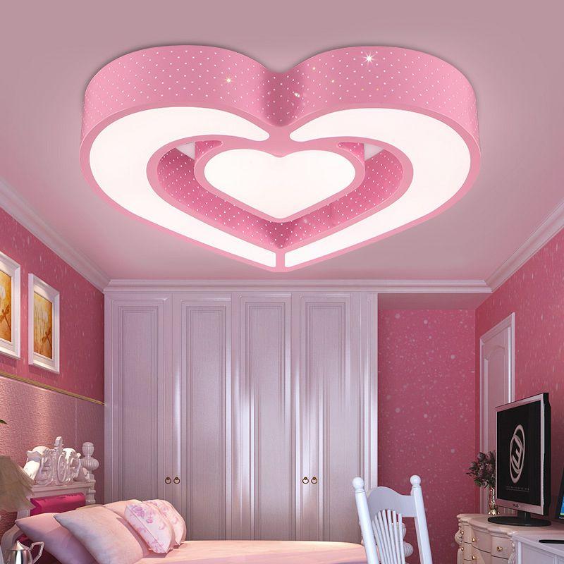 Bedroom Light Childrenu0027s Room LED Ceiling Lamp Creative Cartoon Heart  Lovely Bedroom Girl Room Eye Care Ceiling Light ZA81730 Ceiling Lights  Bedroom Light ...