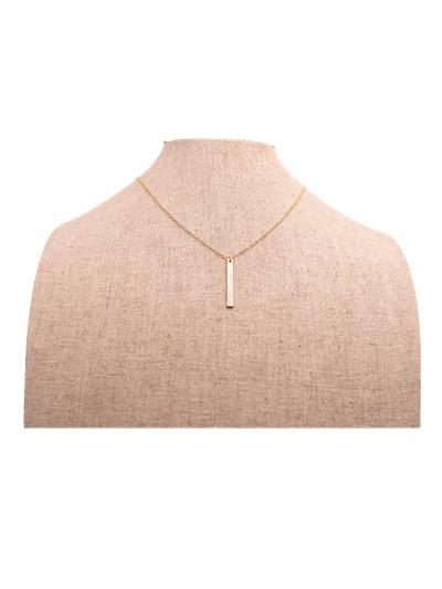 18K Gold Silver South America style cuboid Pendant necklace Strip plated necklace the best gift to women
