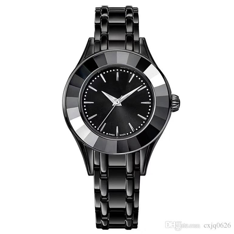 1b50fd87049 Compre 2018 Moda Senhora Relógio De Luxo Feminino Relógio De Quartzo Preto Mulheres  Relógio De Cisne Original Top Design Marca Relógio De Pulso ...