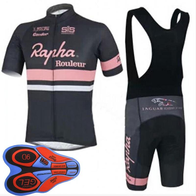 Pants Sets Mens Team Cycling Jersey Bib Shorts Kits Riding Race Tops Straps