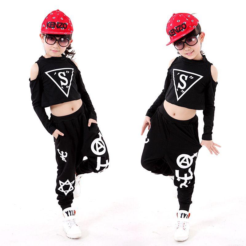 Compre Ids Jazz Hot 2018 Nueva Moda Niños Niñas Street Dance Hip Hop Ropa  Niños Jazz Dance Disfraces Top Pants Performance Clothes S .. c07f24f1735