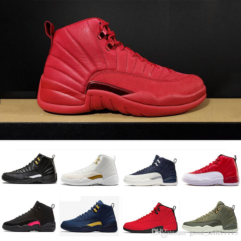 e2d3bdae905f91 36 47 Gym Red Rush Pink 510815 006 12 XII 12s Men Women Basketball Shoes  Flu Game Wolf Grey Mens The Master Athletic Sports Sneakers Basketball Shoes  For ...