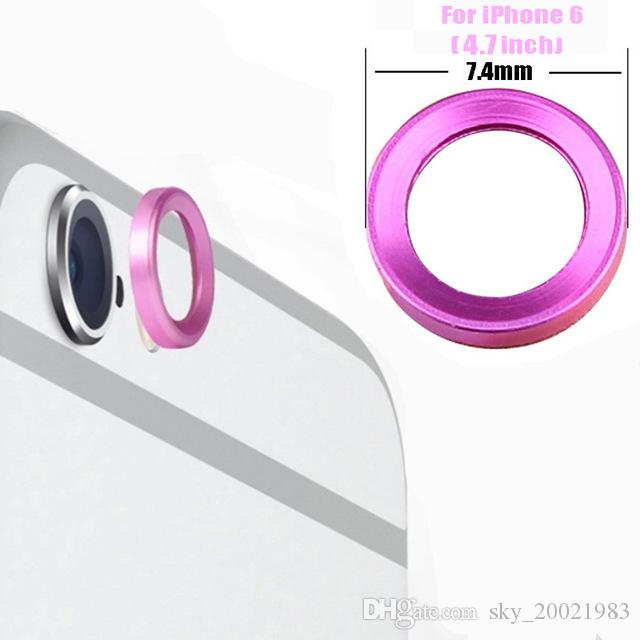 Besegad Metal Rear View Camera Ring Guard Circle Lens Cover Protector Bumper Case for Apple iPhone 6S 6S Plus 4.7 5.5 Inch Gadgets