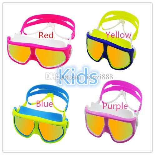Goggles HD waterproof and anti-fog children's electroplating swimming  glasses special child swimming equipment