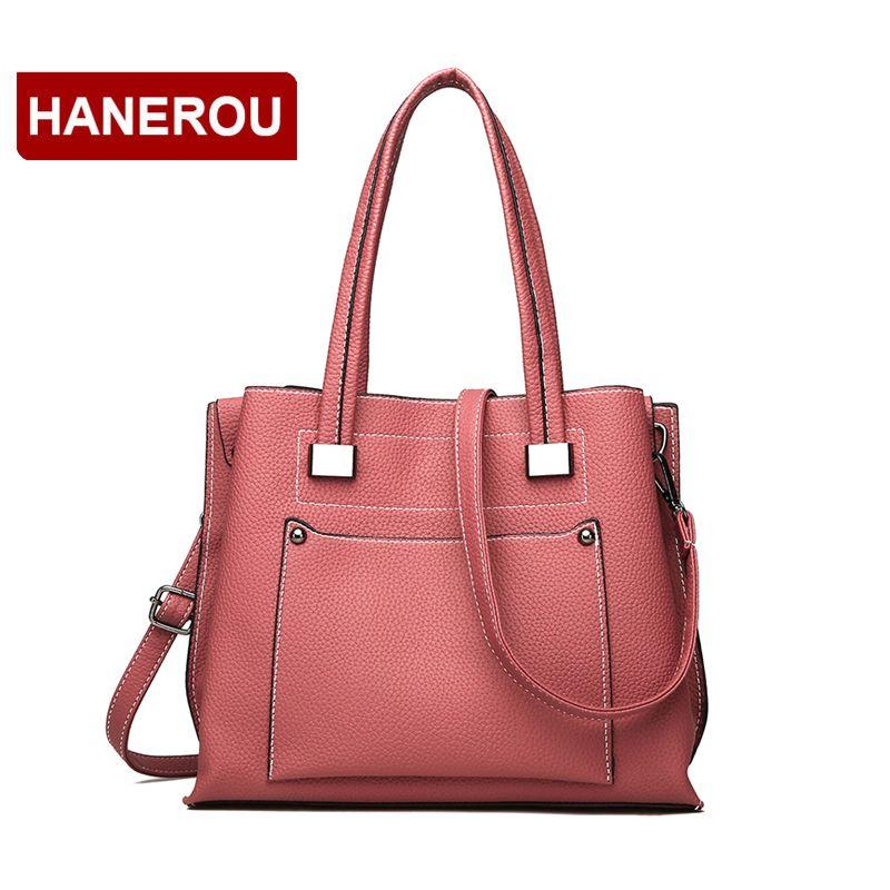 ef15562978 Litchi Paern Women PU Leather Handbags Ladies Large Tote Bag 2018 New Fashion  Female Large Capacity Shoulder Bag Sac A Main Leather Backpacks Shoulder  Bags ...