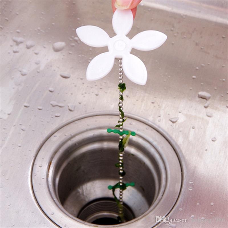 Projeto bonito Da Flor Do Banheiro Chuveiro Drenagem Peruca Cadeia Cleaner Cabelo Remover Removedor de Perdas Bloqueio Preventer Anti Bloqueio Ferramentas 0 65lr Z
