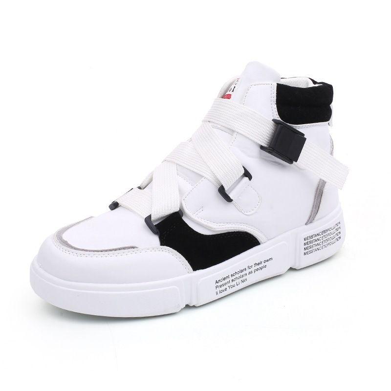 Compre Zapatos Para Hombre Zapatillas De Deporte Transpirable Primavera  Otoño Moda Coreana Zapatos Casuales Top Zapatos Hombre Hombre Hip Hop  Deporte A ... dd7cd48ab67