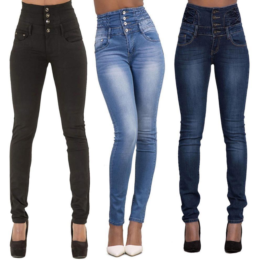 Denim Hohe Großhandel Skinny Jeans Damen Stretchy Tüten Jeggings OPZkuXi