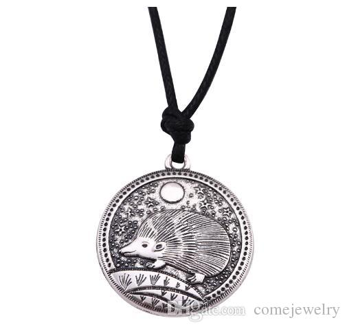 lemegeton Wholesale Scene Jewelry Fantasy Style Hedgehog Horse Fox and Weasel Zinc Alloy Animal Pedant Necklace