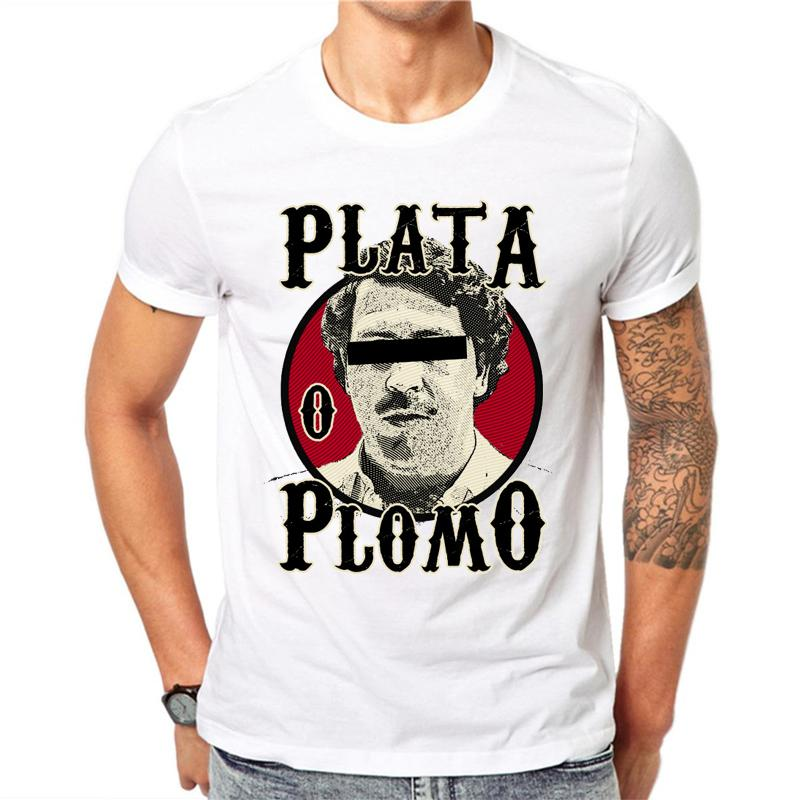 Compre Pablo Escobar Narcos Camiseta Hombre 2018 Moda De Verano Camiseta  Impresa Harajuku Hip Hop Camiseta Blanca Ropa De Hombre 2018 A  24.2 Del  Milemelo ... 425fd6b5a89