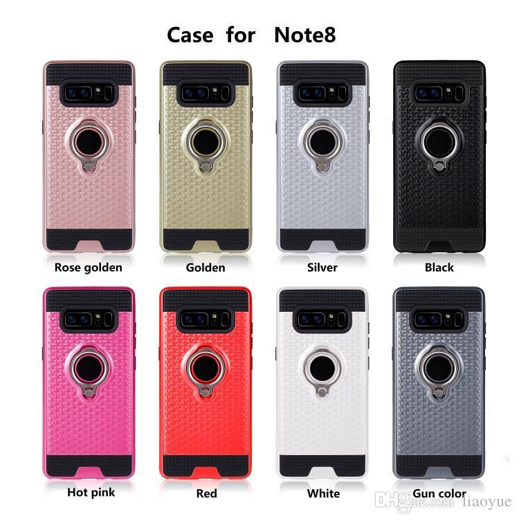 3D-dobrável suporte Anel casos suporte TPU + PC aplica-to Suporte magnético Back-Cover for Para telefone Sam sol Galaxy Celular Smartphone móvel
