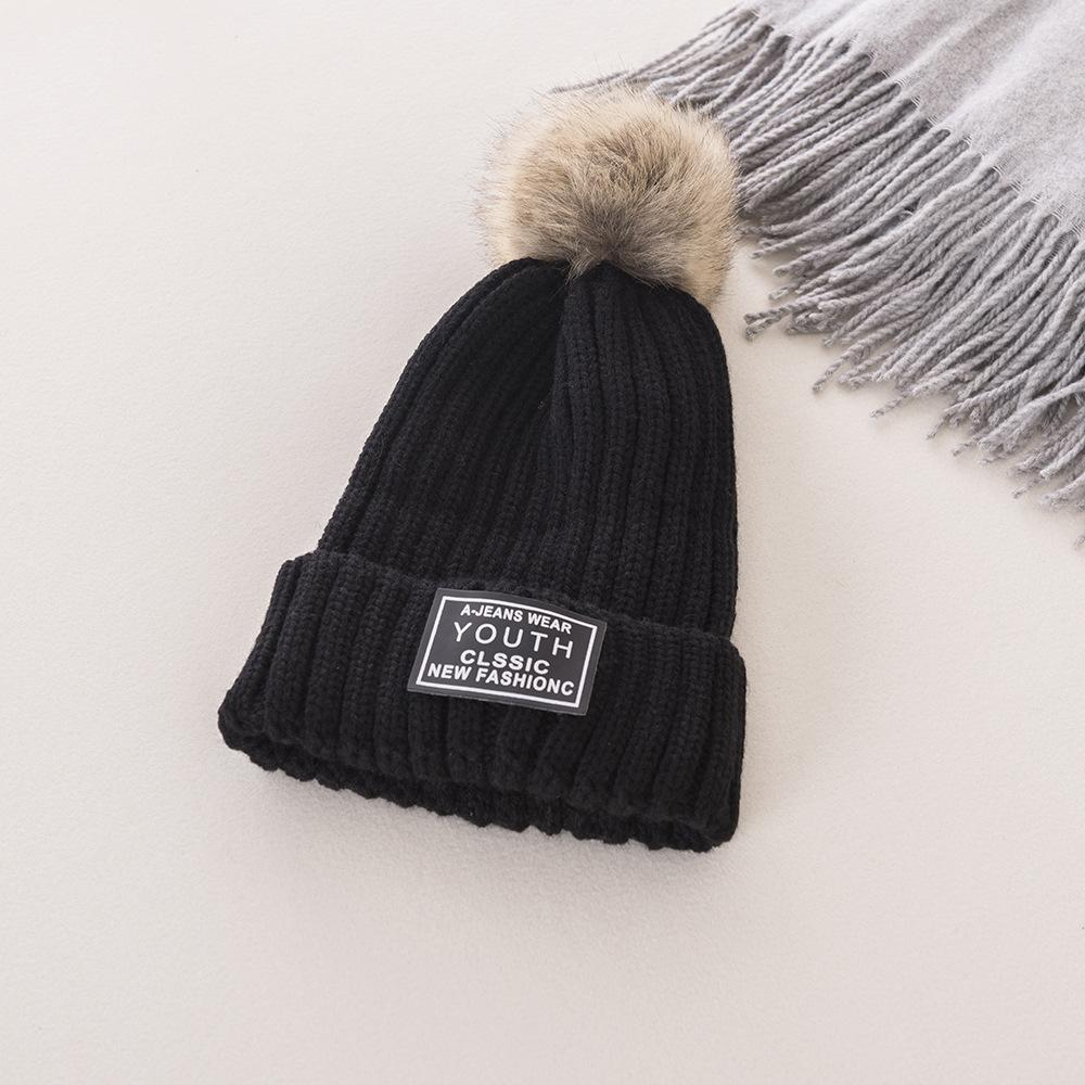 7a7380a53 2018 Autumn Winter Women s Sweater Hat, Ladies Hats Thickening and Heat  Knitted Hat, Outdoor Cold Proof Hair Ball Cap
