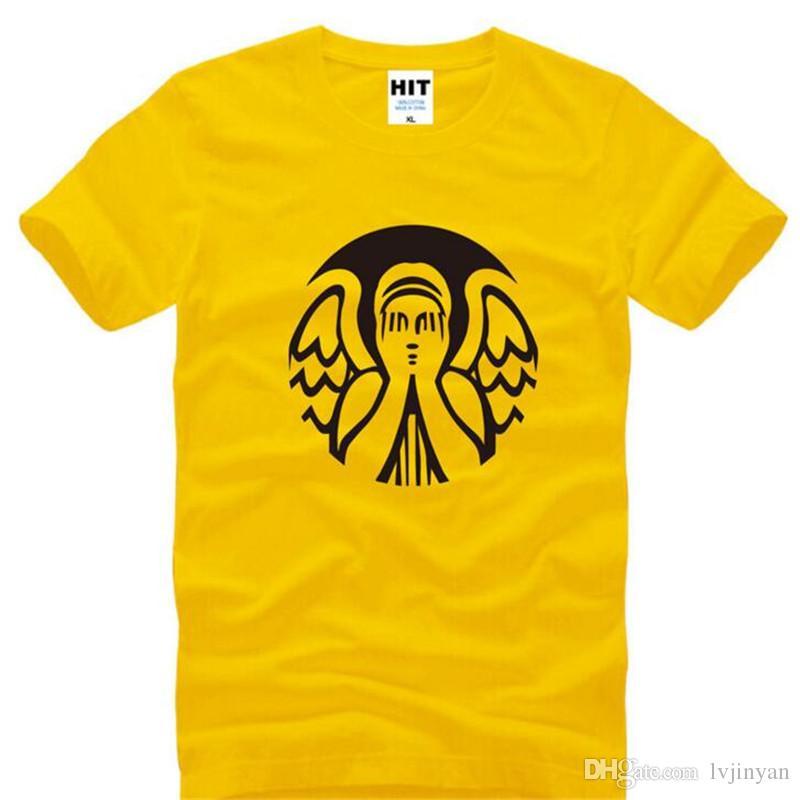e39281aed Compre Doctor Who No Parpadear Impreso Camisetas Hombres Estilo De Verano  De Manga Corta O Cuello De Algodón Camiseta De Los Hombres Camiseta De Moda  Homme ...