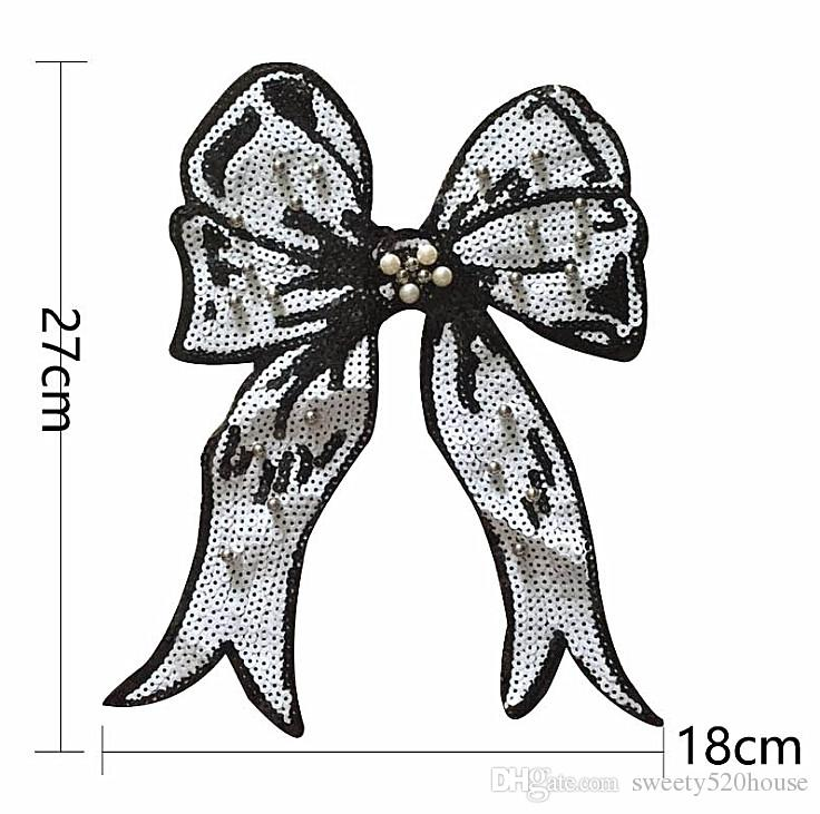 Cartoon Bowknot Patch for Clothing Iron on Embroidered Sew Applique Cute Patch Fabric Clothes Badge DIY Apparel Accessories