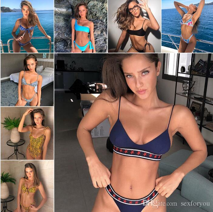 ea21320ab Compre Azul Biquínis 2018 Mulheres Swimwear Sexy Push Up Maiô Maillot De  Bain Femme Conjunto Biquíni Brasileiro Beachwear Maiô Biquini De Sexforyou
