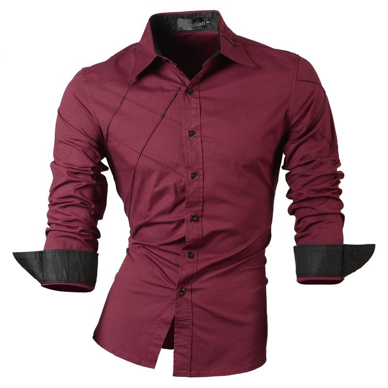 da5a2796de 2018 camicie casual vestono maschio abbigliamento maschile manica lunga  sociale slim fit marchio boutique cotone occidentale pulsante bianco nero t  ...