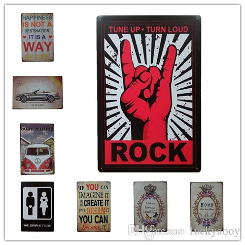 Happiness Surfing Rock Vintage Retro Metal Tin Sign Retro Metal Painting Poster Bar Pub Signs Wall Art Sticker