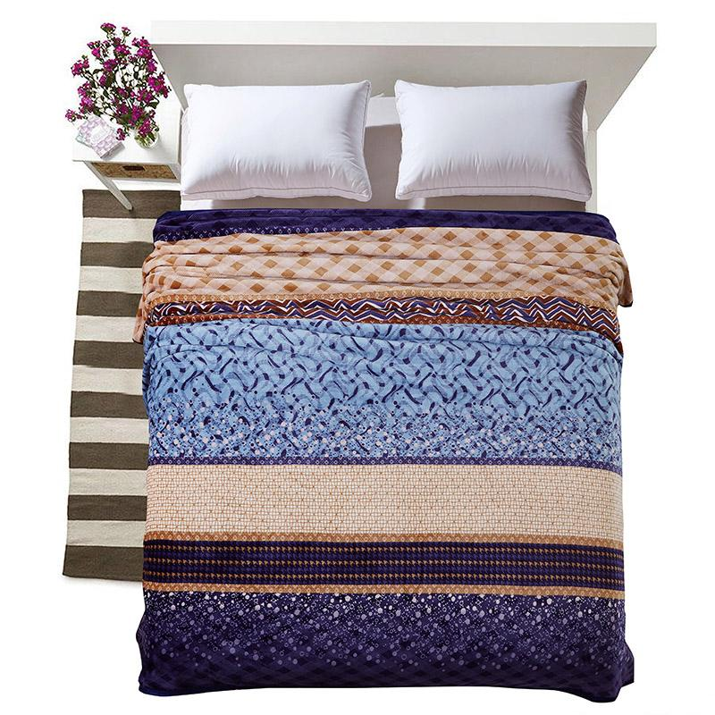 Cozzy Geometric Plaid Stripes Patchwork Men S Warm Microplush Blanket Fleece Bedding Sofa Couch Throw Quilt Cover 4 Size Option