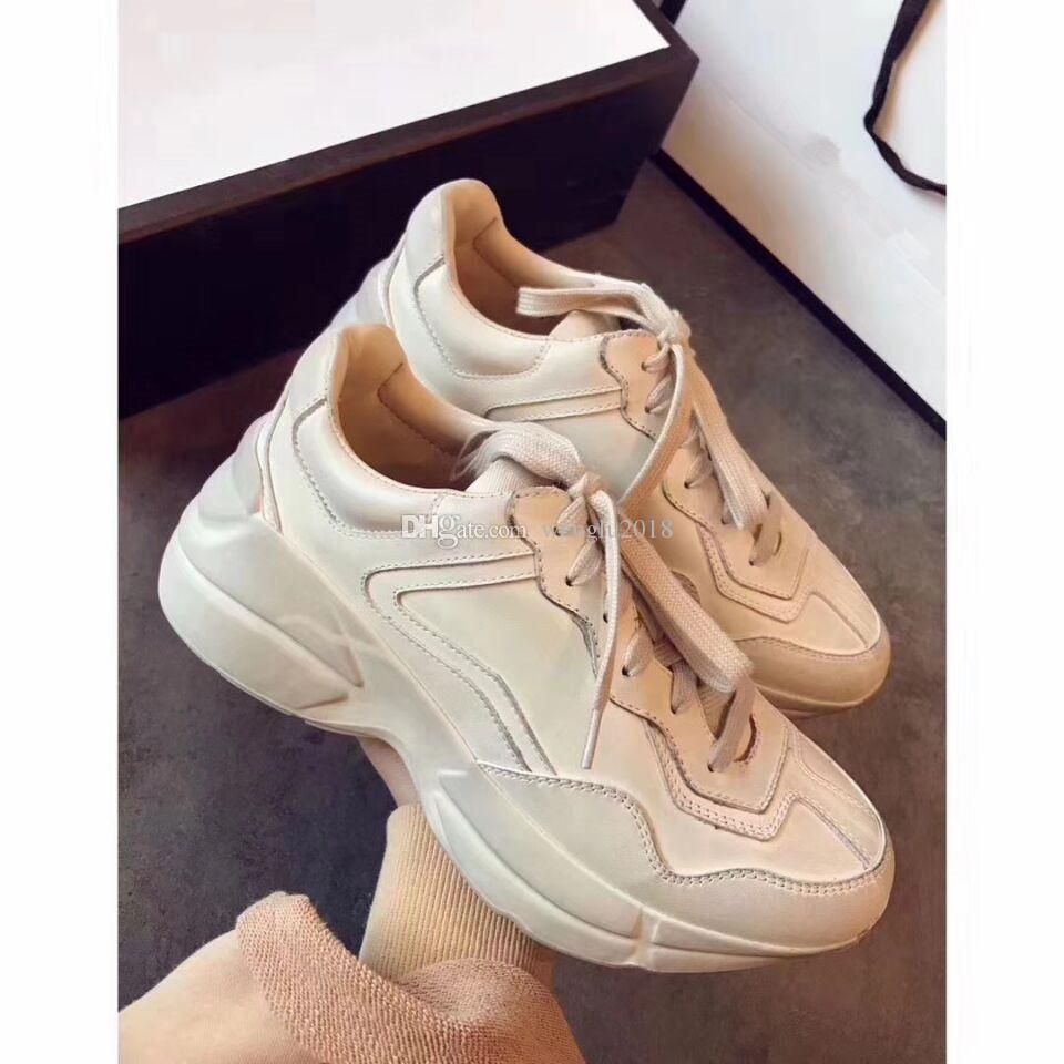 46a32fac459 2018 With Box Rhyton Vintage Trainer Sneaker Fashion Triple-s Luxury ...