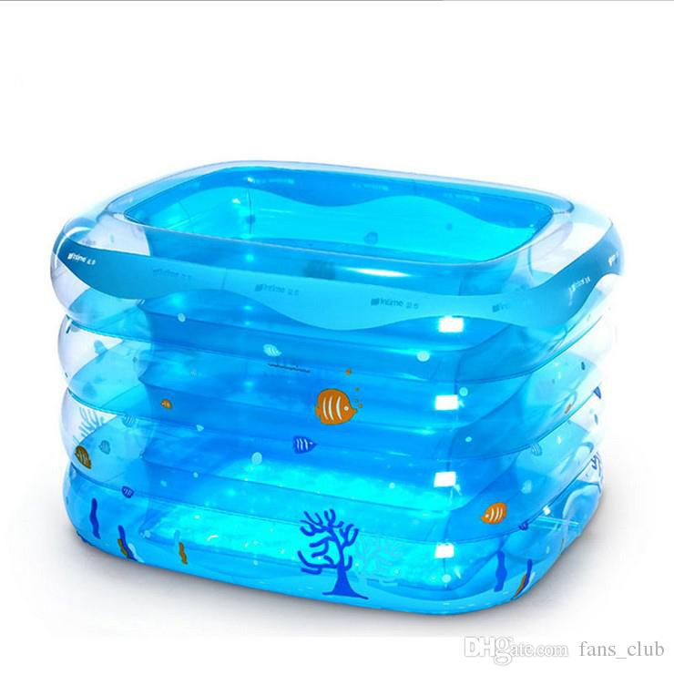 2018 Baby Swimming Pool Kids Children Plastic Transparent Inflating Printing Inflatable Outdoor Swim Pools From Fans Club