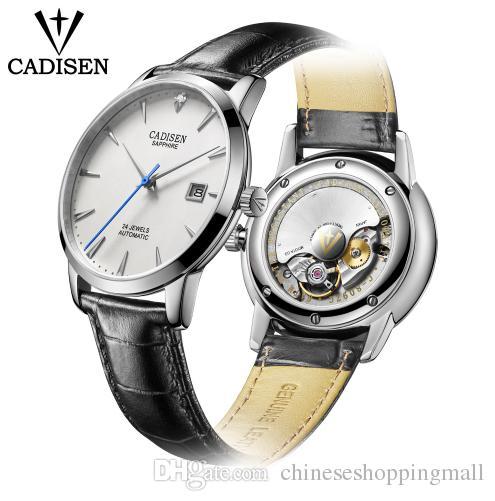 6957c91973f Compre Cadisen Homens Relógio 2018 Hot Wrist Marca De Luxo Famoso Relógio  Masculino Relógio Automático Real Diamantes Relógio Relogio Masculino De ...