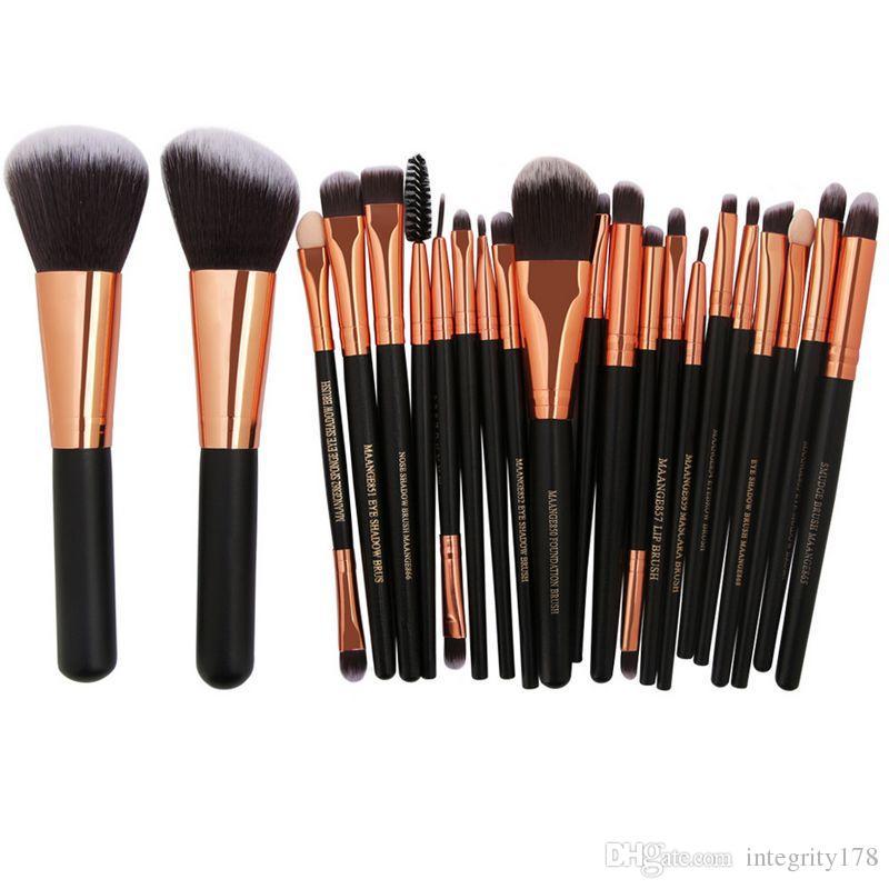 MAANGE Pro Cosmetic Makeup Brushes Set Blusher Eye Shadow Brow Lip Powder Foundation Make up Brush kit Beauty Essentials