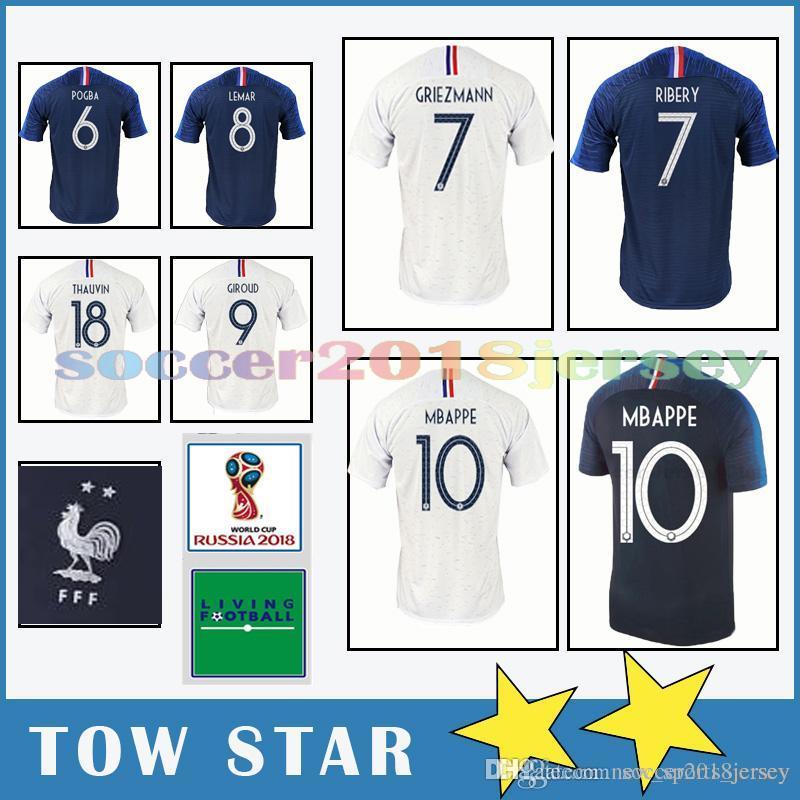 a8511f5b7b3 10 Kylian Mbappe 7 Griezmann 6 Paul Pogba Very popular Thailand 2018 World  Cup jersey soccer jersey