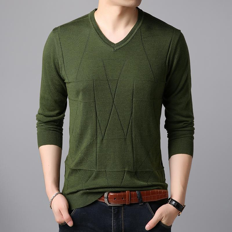 8bb7e8eafa 2019 Mens Autumn   Spring Casual V Neck Thin Sweater Pullover Male Solid  Long Sleeve Sweater Jumpers From Dreamcloth