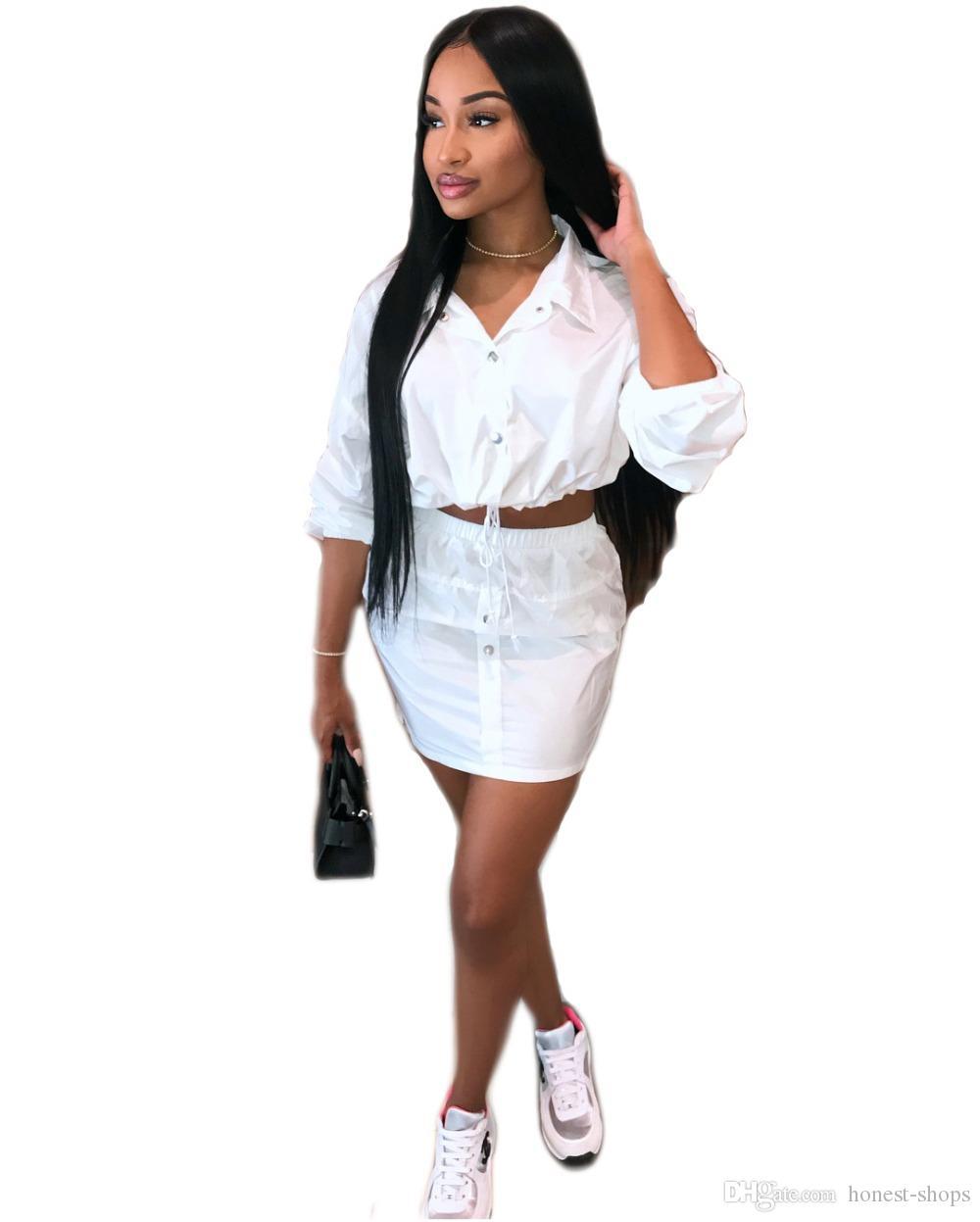 36f36f6c6c7a Frauen weißes Kleid v-Ausschnitt schnüren sich oben kurzes Minikleid zwei  Stücke fester Bleistiftkleid bodycon heißer Verkauf des Herbstes