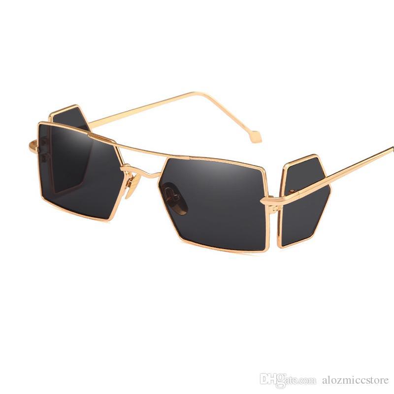 1b18105b8cf2 New Fashion Designer Retro Square Sunglasses Women Men Alloy Frame Four  Lenses UV400 Sun Glasses Oculos W28 Cat Eye Sunglasses Round Sunglasses  From ...